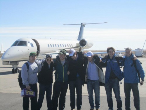 Taking the mandatory Taco 12 Pack on the private jet to Telluride. TFM.