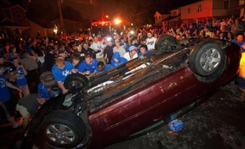Rioting in the streets of Lexington. TFTC.