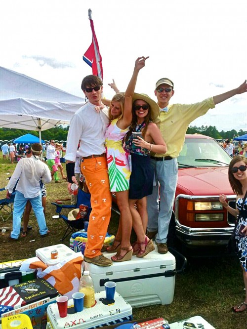 Makeshift dance floor at the Carolina Cup. TFM.