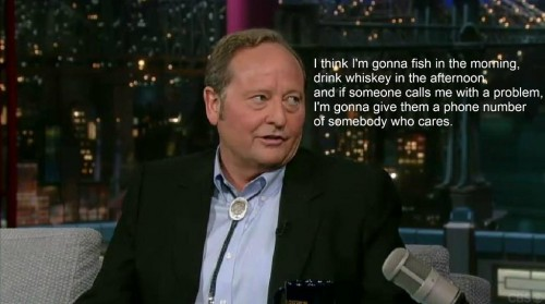 Brian Schweitzer, Governor of Montana on what he will do when out of office. TFM.