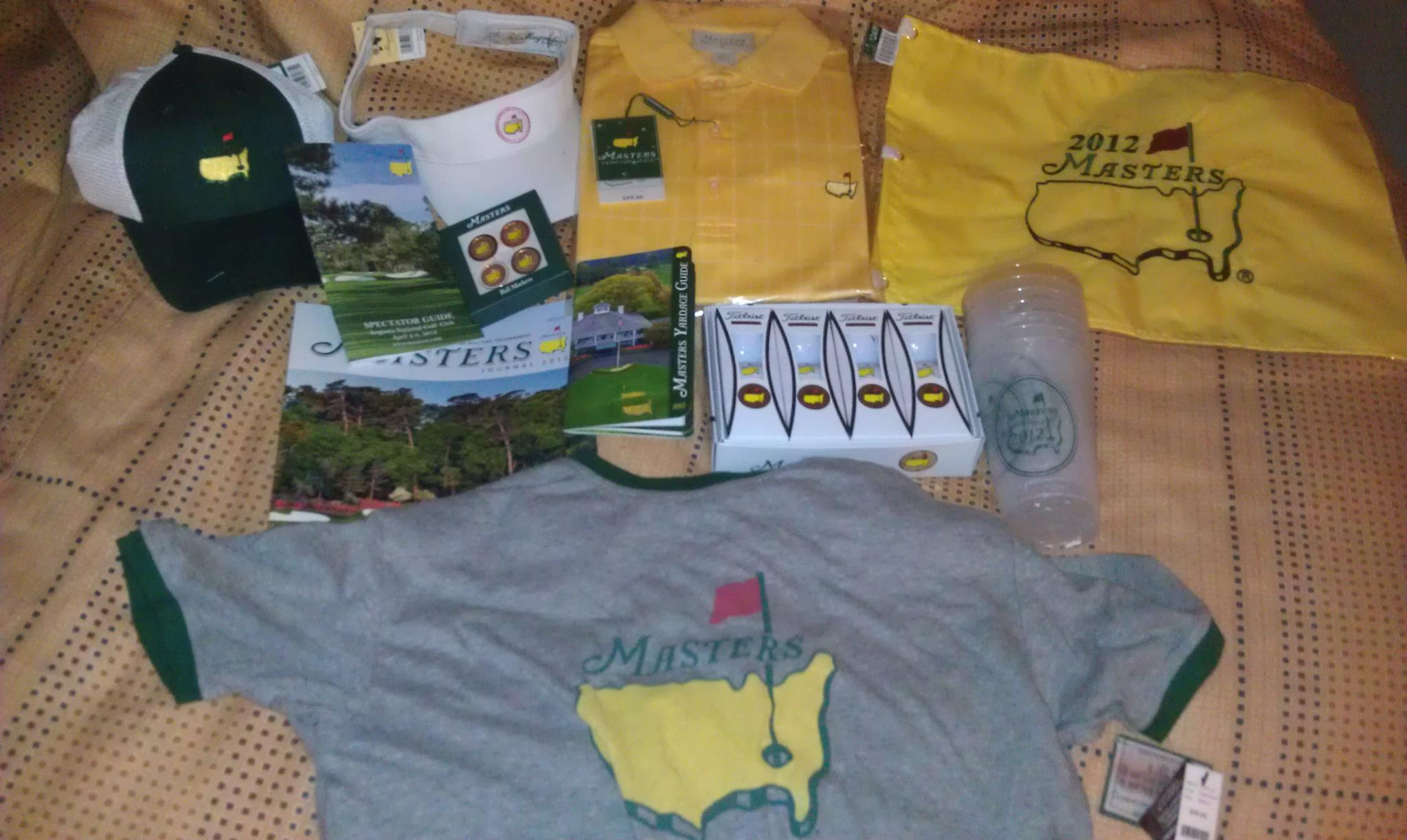 The Masters haul, Day 1. TFM.