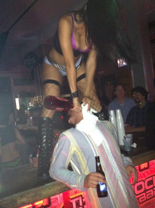 Being fed booze by scantily clad women. TFM.