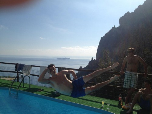 Leisure diving to kick off the weekend in Italy's Amalfi Coast. TFM.