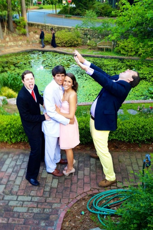 Blatant disregard for other people's formal photos. TFM.