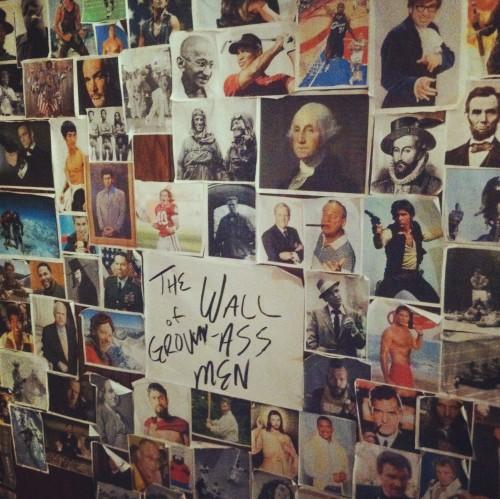 The wall of grown ass men. TFM.