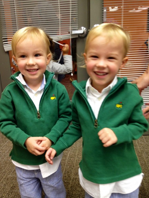 Three years old, been to the Masters twice. TFM.