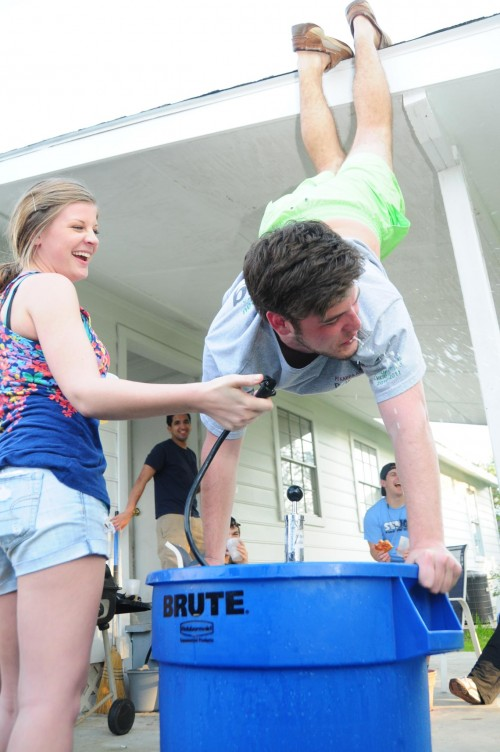 Kegstand with help from the roof and a slam. TFM.