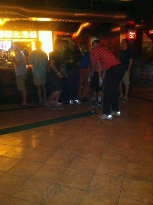 Working on the short game at the bar. TFM.