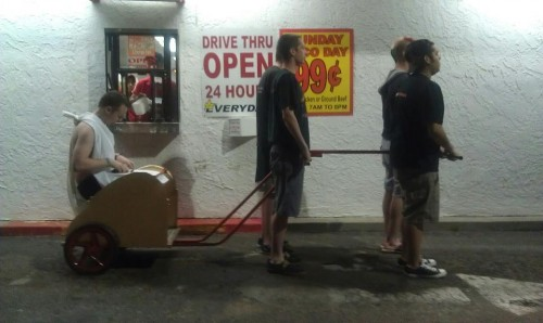 Hitting the drivethrough with the pledges. TFM.