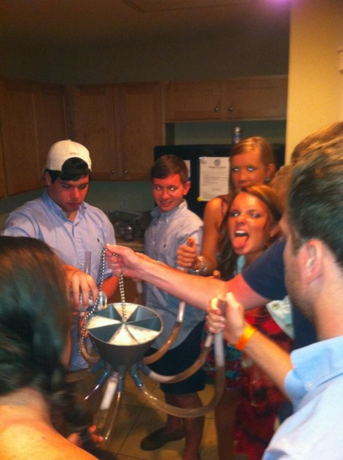 Putting the octobong to work. TFM.