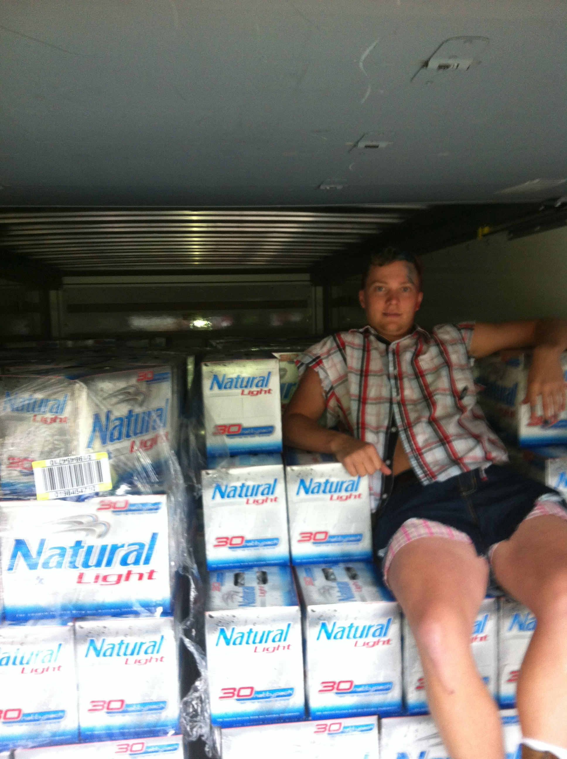 12,960 Natty Lights...the perfect throne at Ivy League 2012. TFM.