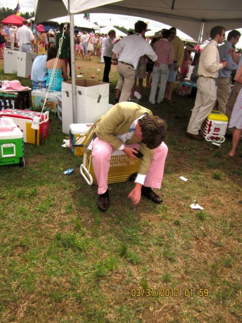 The casual cooler slump at Cup. TFM.