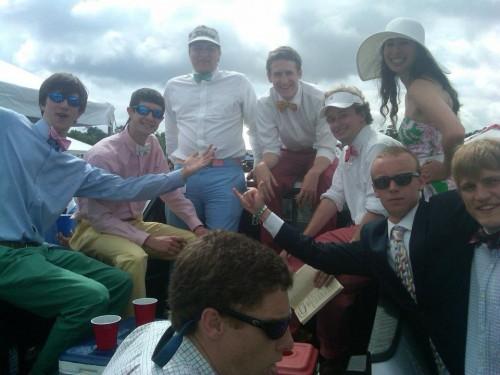 Bow ties everywhere at Carolina Cup.