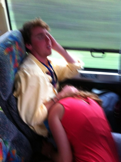A little entertainment on the bus back from Carolina Cup. TFM.