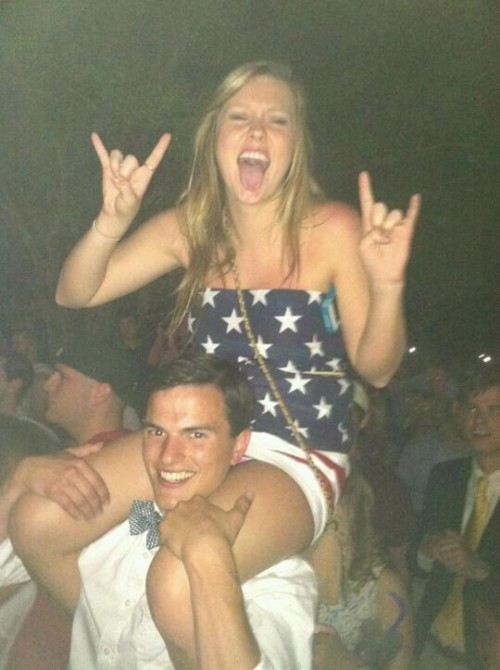 Putting the stars and stripes on your shoulders. TFM.