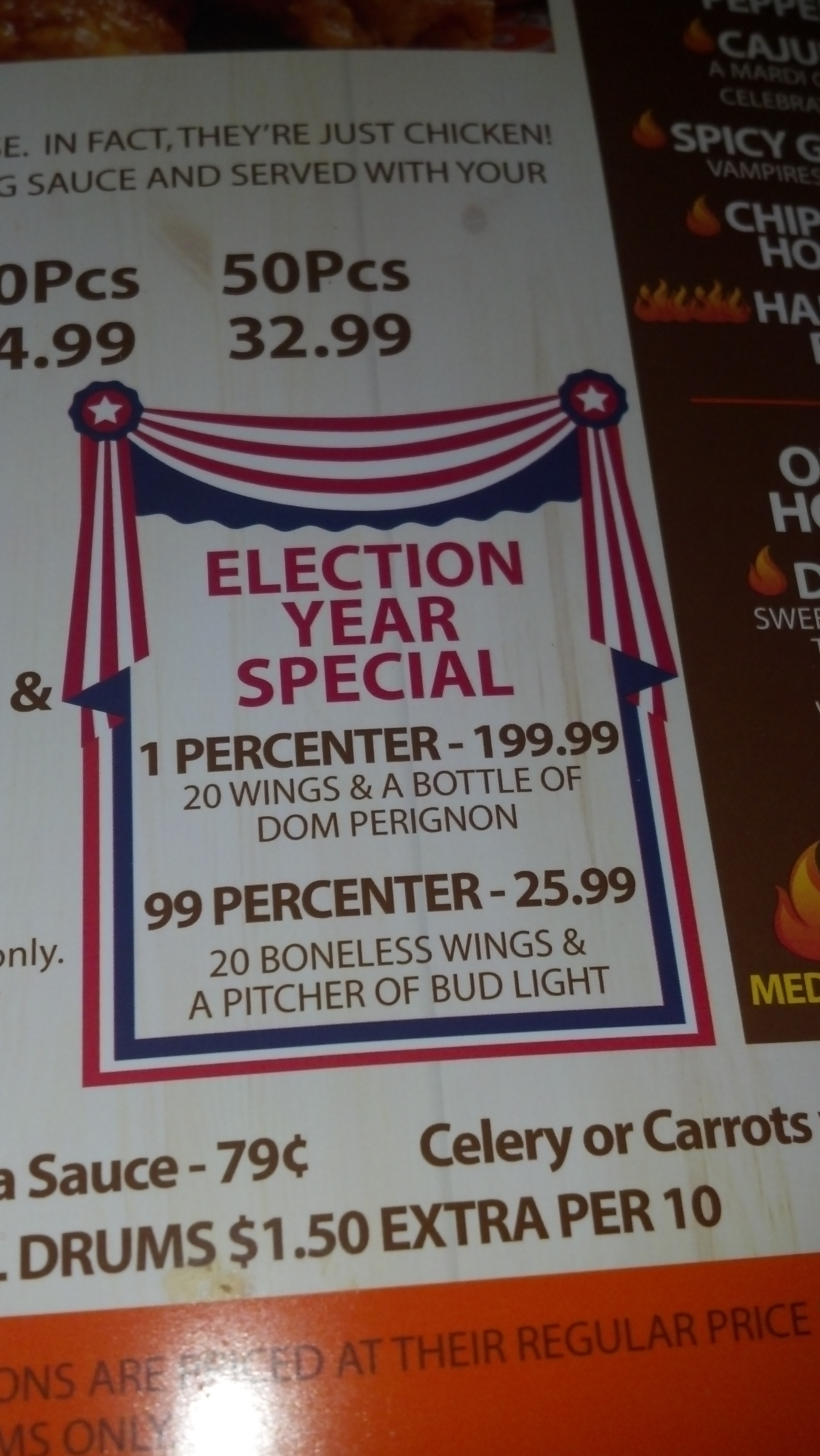 Hooters letting you make a statement. TFM.
