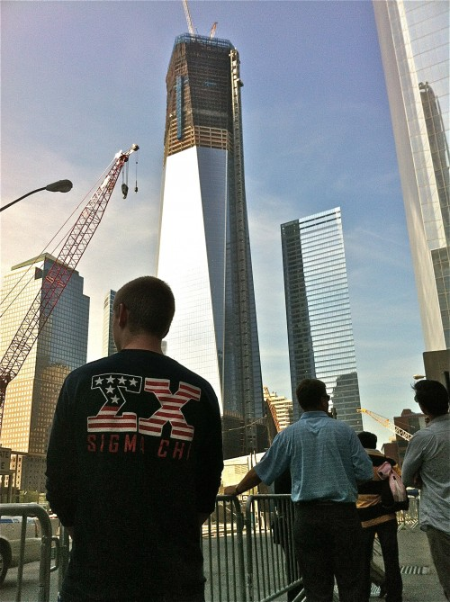 Never forgetting at the 9/11 memorial. TFM.