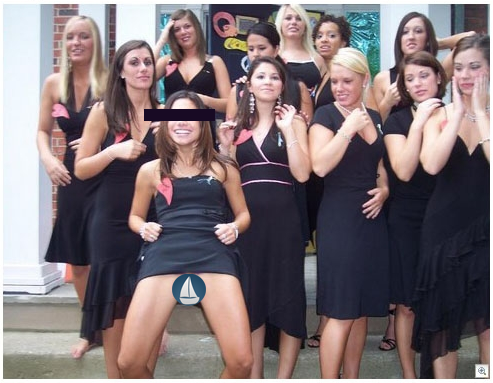 Letting it all hang out on Bid Day. TFM.