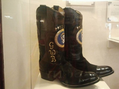 W. having a pair of boots special made for his inaugural address. TFM.