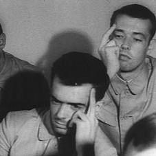 Crew of the captured USS Pueblo in North Korean propaganda pictures 1968. TFM.