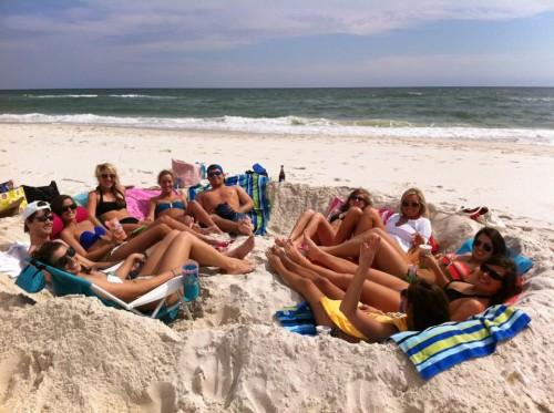 Sand sofa in Gulf Shores. TFM.