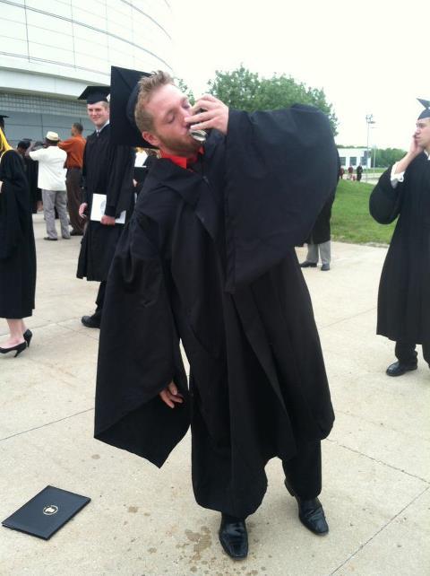 Graduating the right way. TFM.