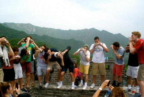 Showing the Chinese how it's done on The Great Wall. TFM.