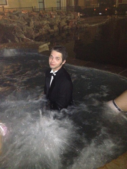 Swimming in the tux. TFTC.