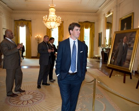 Winning the Super Bowl and then visiting the White House to admire some fine art. TFM.