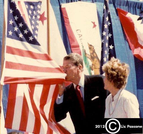 Reagan kissing the flag. TFM.