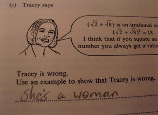 Giving the right answer in lieu of the politically correct one. TFM.