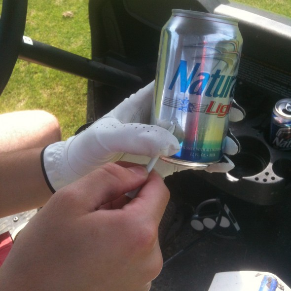 Using tees to shotgun. TFM.