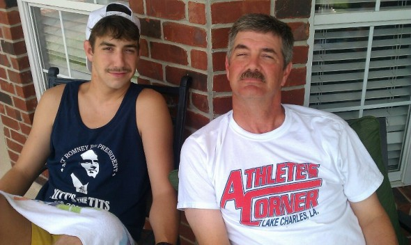 The Stache runs in the family. TFM.