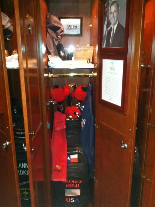 President George H.W. Bush's locker at the World Golf Hall of Fame. TFM.