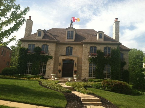 Making your summer house a temporary frat castle. TFM.
