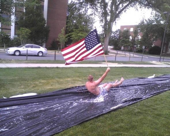 Slip 'n slide for America. TFM.