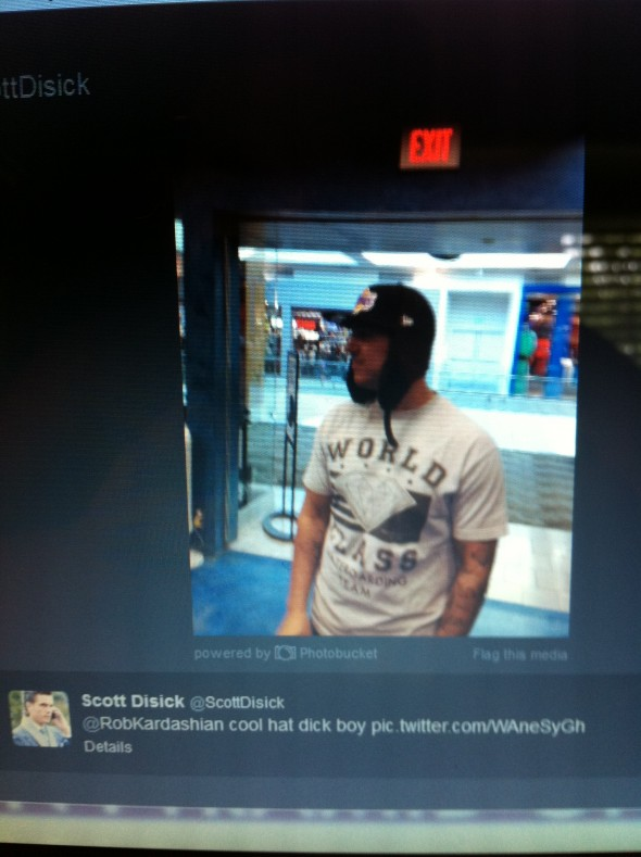 """Cool hat dick boy."" TFM."