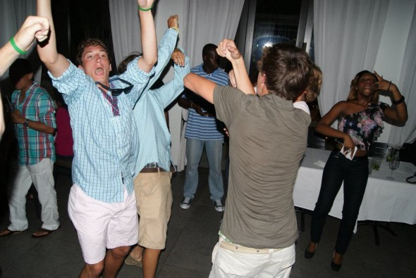 Blackout drunk on the Turks and Caicos dance floor. TFM.