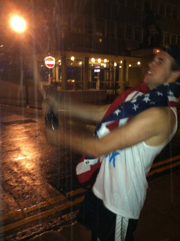Celebrating the 4th on enemy soil and making sure they know it. TFM.