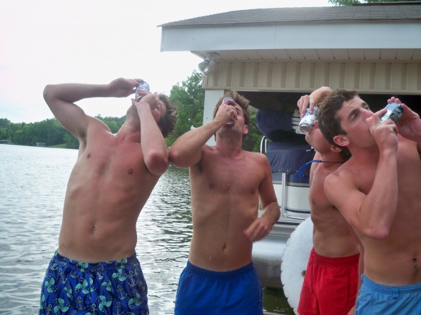 The only way to drink at the lake. TFM.