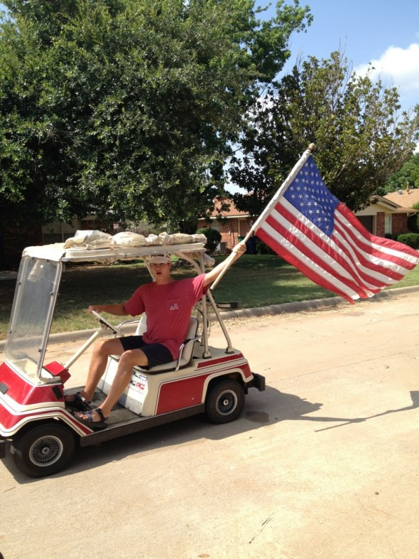 America and golfing go together like slams and sandwiches. TFM.