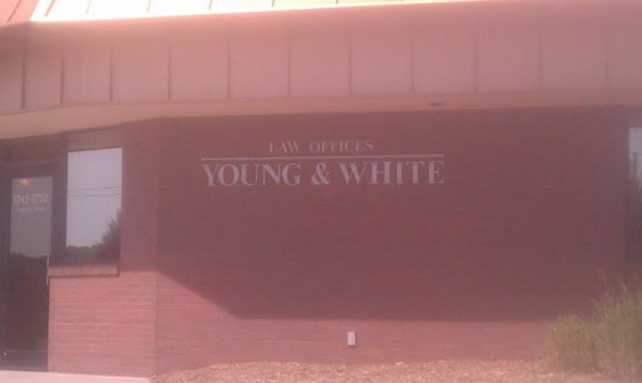 Law offices of Young & White. TFM.