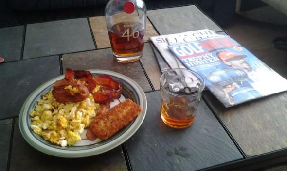 Bourbon and breakfast. TFM.