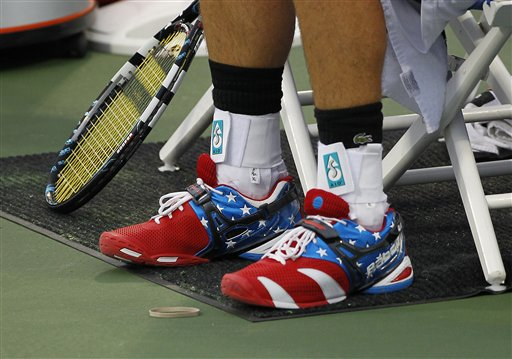 Andy Roddick's shoes at the Olympics. TFM.
