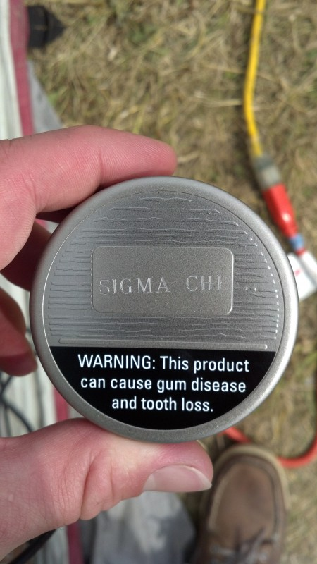 Personalized Copenhagen dip can tops at Country Thunder in Wisconsin. TFM.