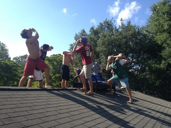 Rooftop shotguns in Wilmington. TFM.