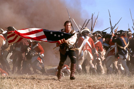 Mel Gibson destroying the British with the American flag. TFM.