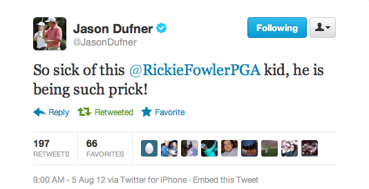 Jason Dufner saying what everyone else is thinking. TFM.