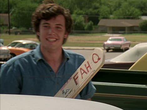 "Naming your paddle ""FAH Q."" TFM."