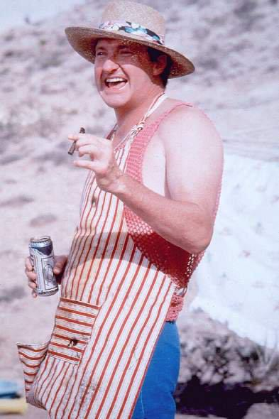 Cousin Eddie's essentials: six-pack of Busch and stogie. TFM.